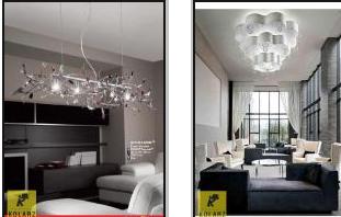 Svítidla Kolarz- obývací pokoj
