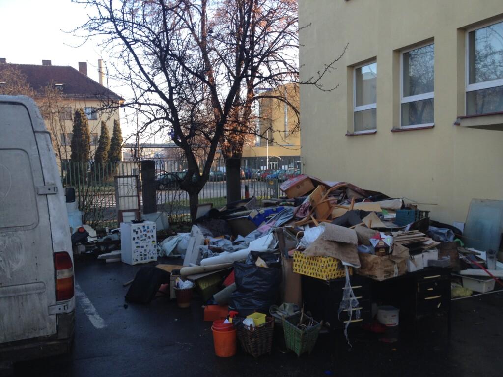 Odstranění odpadu z ubytovny