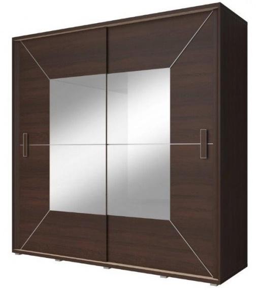Šatní skříň 204 cm s posuvnými dveřmi Gustos 1