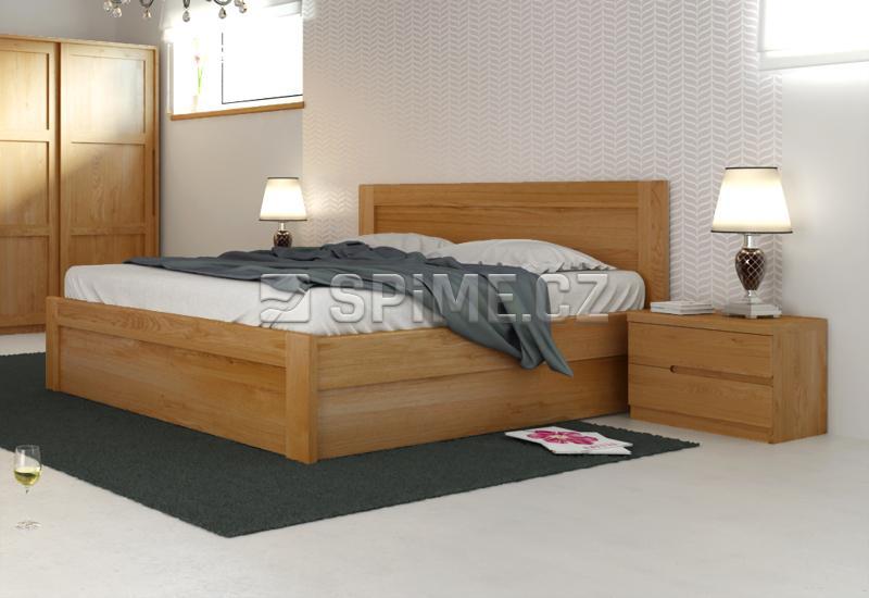 Dubová postel ONTARIO